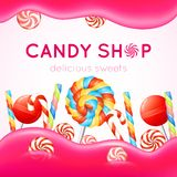 Candy Shop Poster Stock Images