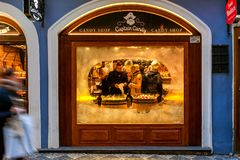 Candy shop in Prague. Royalty Free Stock Photo