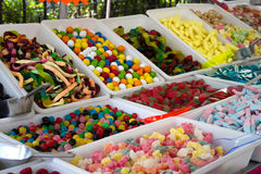 Candy shop stand Royalty Free Stock Image