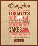 Candy shop text. Vector illustration Stock Photo