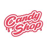 Candy shop Vector Emblem - isolated label vector illustration. Logo template. Vector emblem for cafe, sweets stock photos
