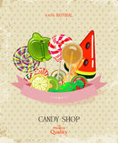 Candy shop. Vector illustration. Royalty Free Stock Photography