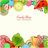 Candy shop. Vector illustration. Royalty Free Stock Image