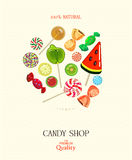 Candy shop. Vector illustration. Royalty Free Stock Photo