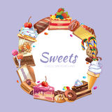 Candy shop vector poster Stock Images