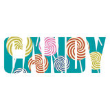 Candy sign Stock Image