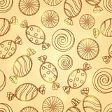 Candy Silholuette Seamless Pattern Royalty Free Stock Photos