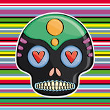 Candy skull. On a colored background Mexican style Stock Images