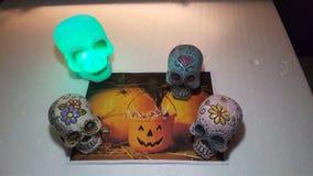 Candy skull posing stock photos