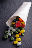 Candy slanet in bags stock images