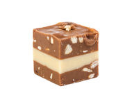 Candy with soft nougat and almonds Royalty Free Stock Image