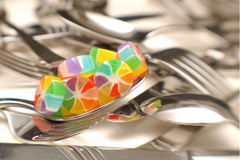 Candy on a Spoon Royalty Free Stock Image