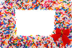 Candy Sprinkle Frame Stock Image