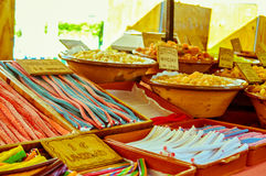 Candy stand Stock Images