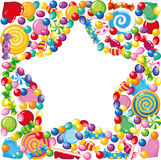 Candy star royalty free illustration