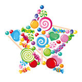 Candy star white Stock Photo