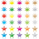 Candy stars Stock Image