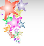 Candy stars creative background Stock Photography