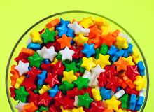Candy stars in dish Royalty Free Stock Photo