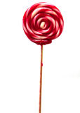 Candy stick. Isolated on white background Royalty Free Stock Photo