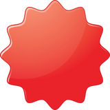 Candy sticker. Red designed sticker with candy effect Stock Image