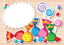 Candy sticker background Stock Images