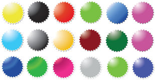 Candy stickers. A set of candy stickers Royalty Free Stock Photo