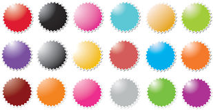 Candy stickers. A set of candy stickers Stock Photo