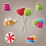 Candy Stickers Vector Illustration Royalty Free Stock Images