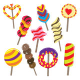 Candy Sticks. Vector illustration of various colorful candy sticks Stock Images