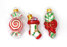 Candy Stocking Sugar Cane Miniature Ornaments Stock Photography
