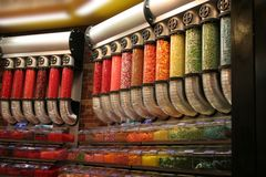 Candy Store. Containers in mall Stock Photography