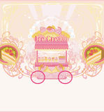 Candy store - abstract retro card Stock Photos