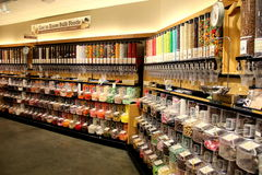 Candy store. Huge selection of sweet treats Royalty Free Stock Image
