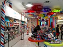 Candy store shopping Royalty Free Stock Image