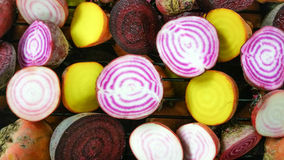 Candy stripe beetroots Royalty Free Stock Photos