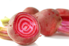Candy Striped Beets Stock Photography