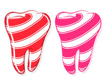 Free Candy Striped Teeth Idiom Sweet Tooth Stock Photos - 22280443