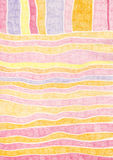 Candy Stripes Background. Decorative background hand drawn with crayons in sweet colors Stock Photography