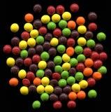 Candy su fondo nero Fotografie Stock