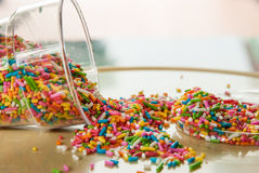 Candy sugar sprinkles Royalty Free Stock Photography