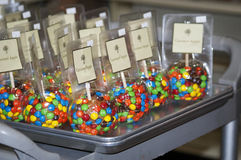 Candy sulle mele di taffy al meleto Fotografia Stock