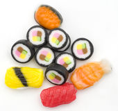Candy Sushi. Isolated Against White Background. Looks Better Than Real Sushi Royalty Free Stock Photo