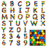 Candy sweet alphabet Stock Image