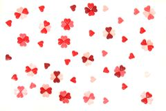 Candy sweet hearts as valentine background Stock Photos