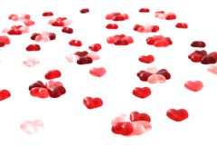 Candy sweet hearts as valentine background Royalty Free Stock Images
