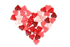 Candy sweet hearts as valentine background Royalty Free Stock Image