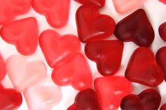 Candy sweet hearts as valentine background Stock Image