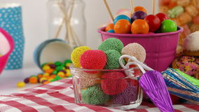 Candy Sweet Jelly Lolly and Delicious Sugar Dessert stock footage