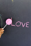 Candy sweet in love on background Stock Photography